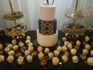 Gold and Black Dessert Table